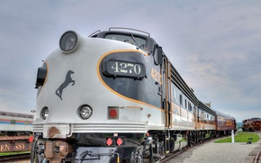 Picture road, train, locomotive