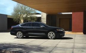 Picture Auto, Black, Chevrolet, Machine, Day, Sedan, Impala, Side view