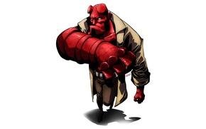 Picture demon, red, look, Hellboy