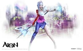 Picture girl, magic, magic, fascinator, Aion