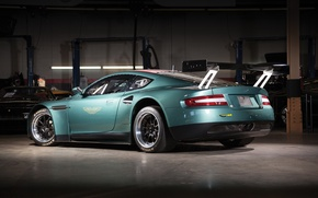 Picture background, Aston Martin, rear view, Aston Martin, wing, DBRS9