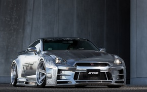 Picture GTR, Nissan, Racing, Silver, Kuhl