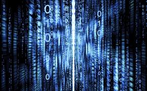 Picture background, code, figures, matrix