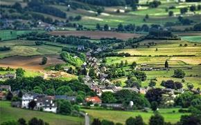 Picture village, effect, Belgium, Tilt-Shift