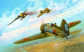 Picture figure, -16, one, bombardirovshik, I-16 type 24, he-111, for the Soviet Union, Heinkel 111, Polikarpov, …