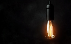 Picture lighting, light bulb, electricity