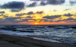 Picture sea, sunset, Nature, sea, nature, sunset
