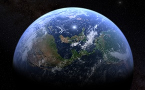 Picture stars, surface, earth, planet