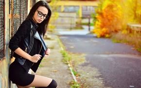 Picture Girl, Hot, Brunette, Model, Autumn, Beauty, Katerina, Portrait, Bulgaria, Ikoseomer, Shooting