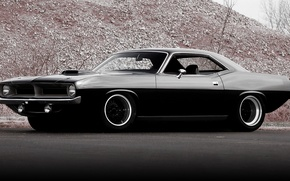 Picture black, Plymouth, Hemi CUDA