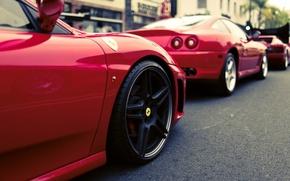 Picture Red, Disk, Wheel, Machine, Ferrari, Sport, 550, Maranello, Testarossa, F 430