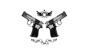 Wallpaper weapons, live or die, guns, background