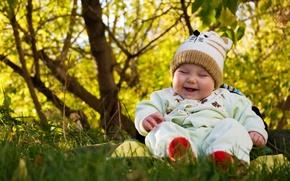 Wallpaper baby, mood, children, child, nature