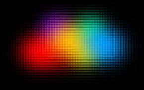 Picture color, cubes, texture, different