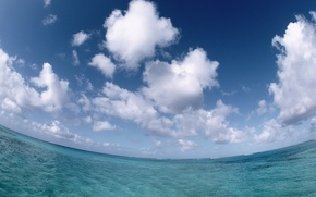 Picture sea, the sky, clouds, 150
