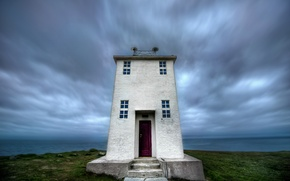 Picture sea, the sky, clouds, lighthouse, Iceland, sky, sea, clouds, Iceland, lighthouse