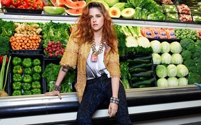 Picture Kristen Stewart, vegetables, shop, It