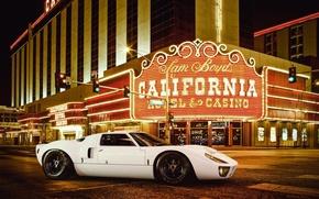 Picture Ford, Las Vegas, White, Supercar, GT40, Casino