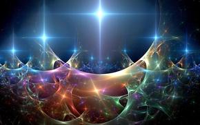 Wallpaper lights, wave, sparks, abstraction