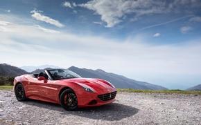 Picture car, the sky, red, Ferrari, red, car, Ferrari, California T, Handing Speciale