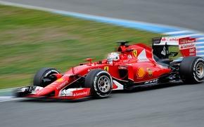 Picture race, the car, Motorsport, Sebastian Vettel, Formula 1, Scuderia Ferrari