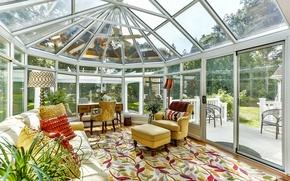 Picture glass, design, style, sofa, carpet, office