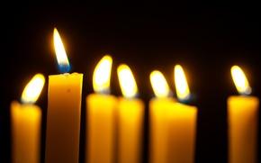 Wallpaper bokeh, lights, candles, fire