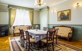 Picture table, room, chairs, interior, sofas