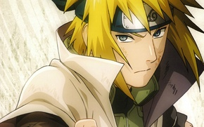 Picture portrait, headband, Naruto, fist, dad, ninja, Minato Namikaze