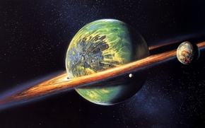 Picture green, planet, sci fi