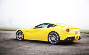 Picture Fog, Yellow, Sport, Ferrari, F12, Poisonous, Super Kar