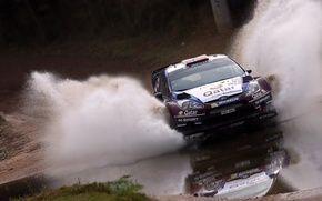 Picture Ford, Water, Auto, Sport, Machine, Speed, Ford, Race, Squirt, WRC, Rally, Fiesta, The front