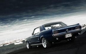 Picture muscle car, 1967, Ford, Mustang, Jake, Ford, rear, muscle car, Mustang, Andrei Diomidov