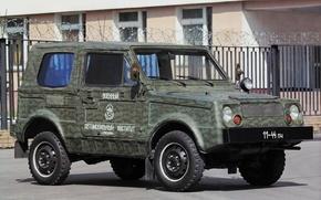 Wallpaper 2122, bus Vli-5, almost pre-production, серия600, military, Lada, VAZ, prototype, camouflage