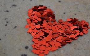 Wallpaper macro, heart, hearts, love, Valentine's day, valentine's day, mood, love