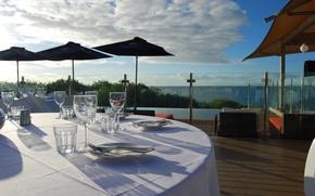 Picture sea, view, Villa, terrace, restaurant