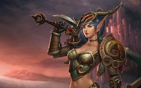 Picture fantasy, horns, world of warcraft