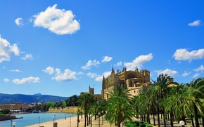 Picture the city, the building, Cathedral, fortress, Palma de Mallorca