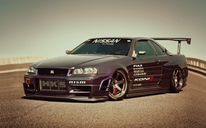 Wallpaper nissan, skyline, Nissan, R 34