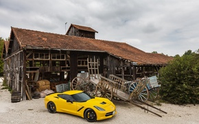 Picture Corvette, Chevrolet, Yellow, Stingray, Velocity