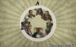 Picture Dragon Age 2, bioware, elf, Fenris, Sebastian Vael, Aveline Vallen, Merrill, Isabela, Varric Tethras, Anders