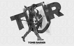 Picture girl, bow, Tomb Raider, Lara Croft, tomb raider