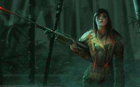 Picture girl, weapons, sniper, Richard Sashigane