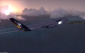 Picture flying, airplane, airliner