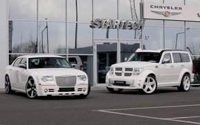 Picture auto, The city, Playground, Chrysler 300s, Dodge.
