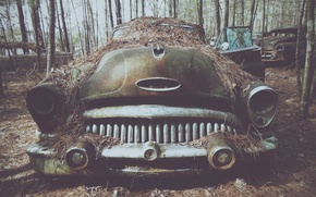 Picture cemetery, retro, old cars