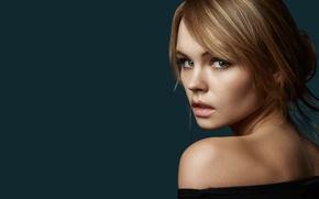 Wallpaper look, girl, face, background, sweetheart, model, hair, portrait, lips, beautiful, shoulder, Rus, Anastasia Shcheglova, Anastasia ...