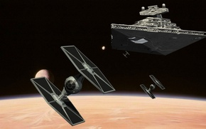 Picture space, star wars, star wars, Star Destroyer, an Imperial cruiser