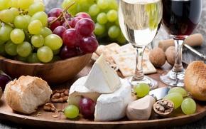 Picture wine, cheese, cuts, Winograd