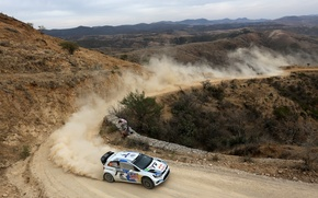 Picture Volkswagen, Machine, Turn, Race, WRC, Rally, Rally, Polo, S. Ogier